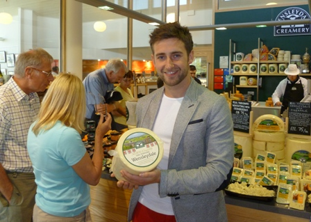 Masterchef's Tom Rennolds Says Cheese at Wensleydale Creamery