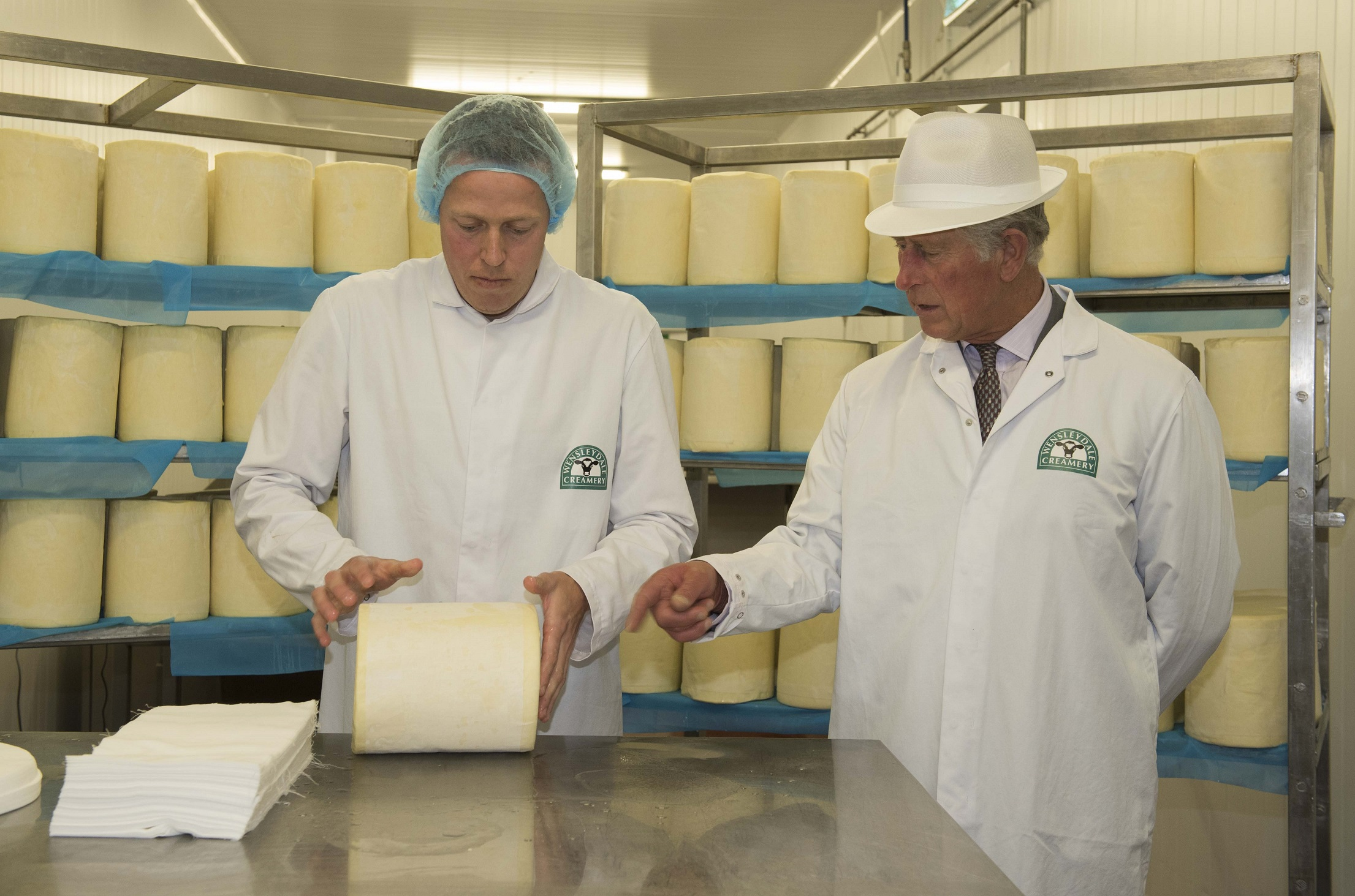 HRH The Prince of Wales Visited The Wensleydale Creamery on Thursday 10 September