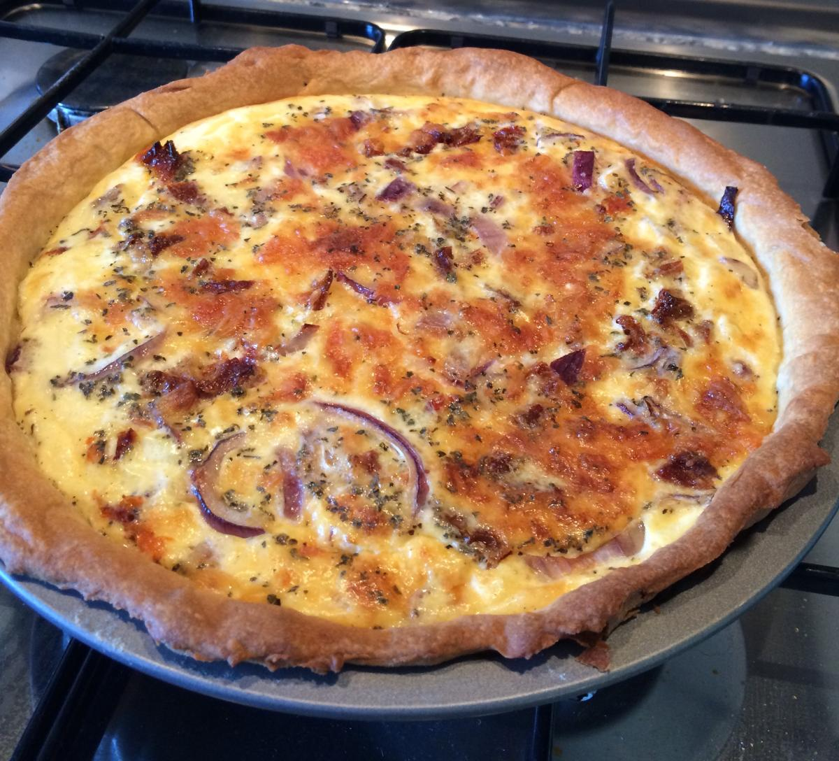 Yorkshire Wensleydale Cheese, Sun Dried Tomato & Red Onion Quiche