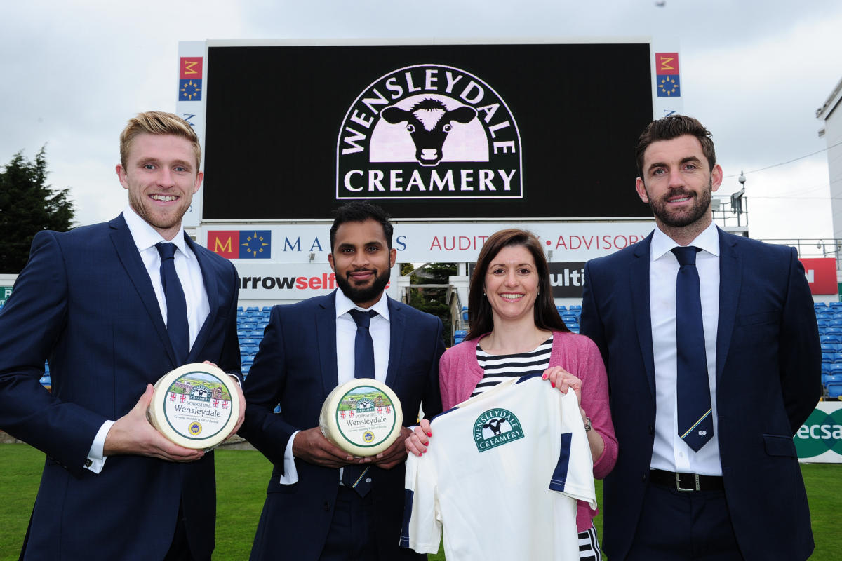 Iconic Yorkshire Food Producer The Wensleydale Creamery Serves Up New Two Year Deal with Yorkshire Cricket
