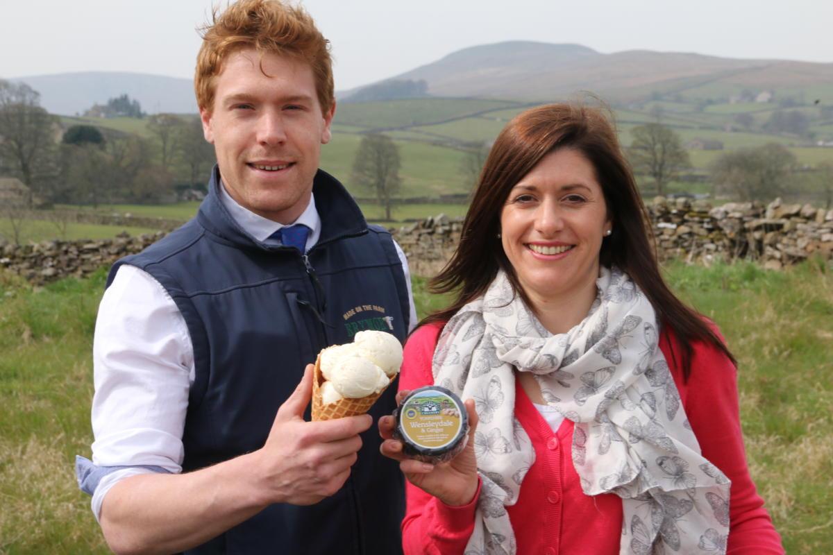 Iconic Yorkshire Producers Unite to create Yorkshire Wensleydale & Ginger Cheesecake Ice Cream