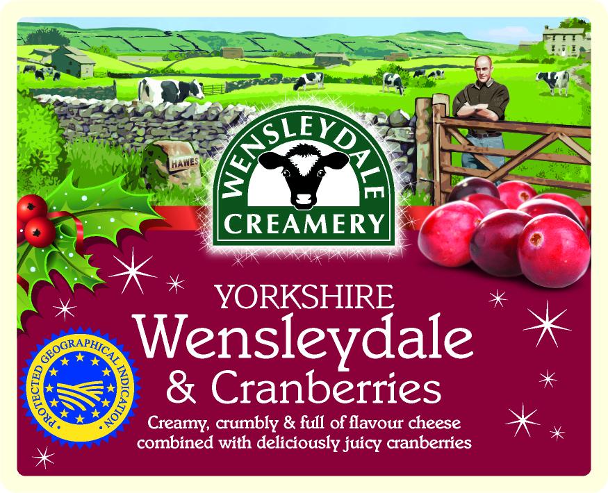 The Wensleydale Creamery unveils seasonal Yorkshire Wensleydale & Cranberries packaging