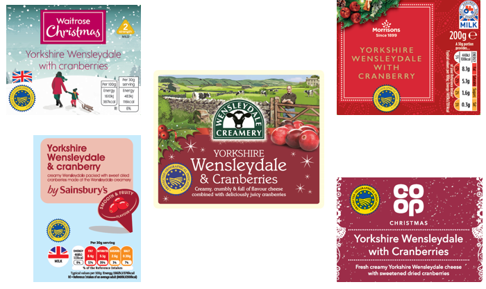 Yorkshire Wensleydale & Cranberries for Christmas