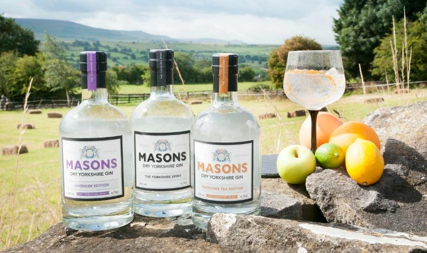 Masons Yorkshire Gin Sampling at Wensleydale Creamery