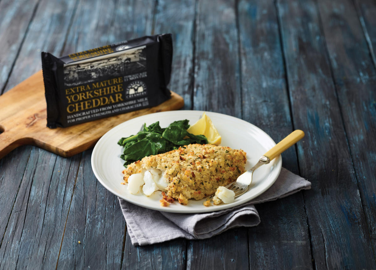 Cod Bake with Yorkshire Cheddar Crumble Crust