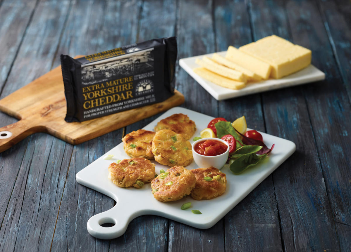 Griddled Yorkshire Cheddar & Spring Onion Cakes