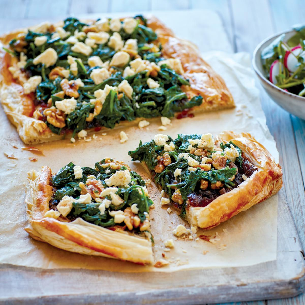 Yorkshire Wensleydale, Apple Chutney & Spinach Tartlet
