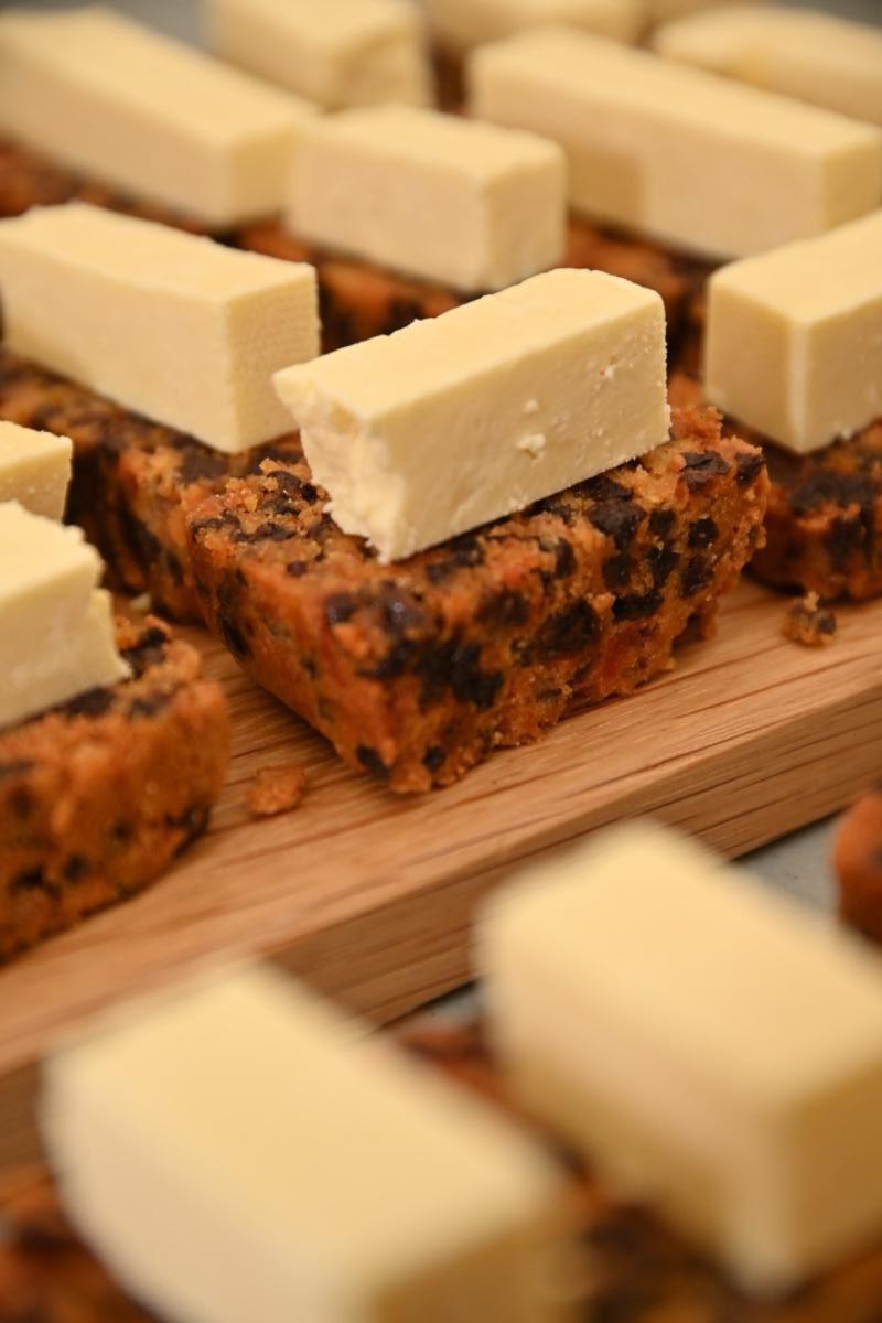 Noveltea Fruit Loaf served with a slice of Yorkshire Wensleydale Cheese