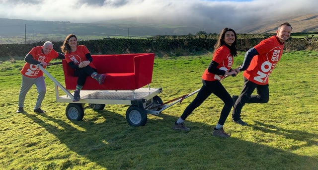 BBC Look North Sofa Challenge for Sport Relief 2020