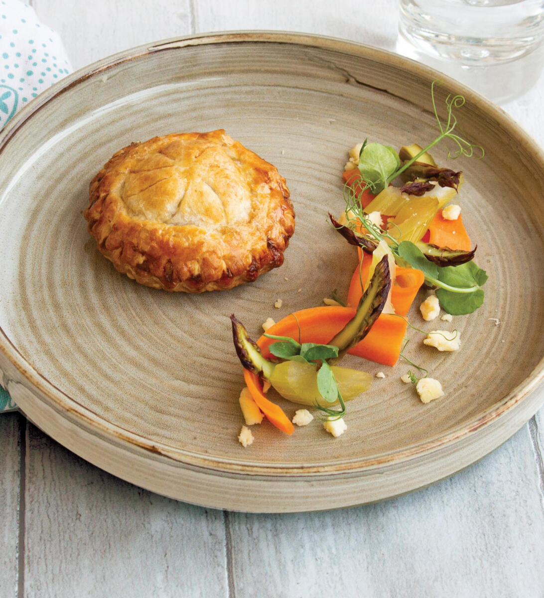 Confit Duck Pithivier with Yorkshire Wensleydale & Cranberries