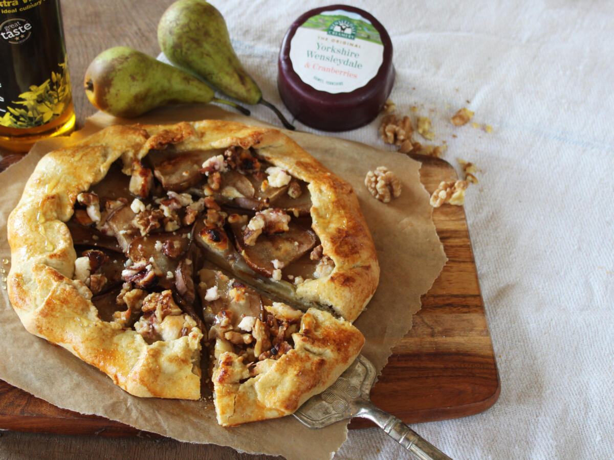 Pear and Yorkshire Wensleydale & Cranberries Galette