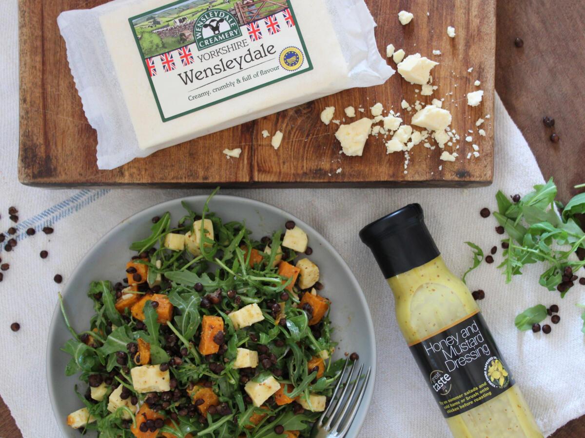 Sweet Potato, Lentil & Yorkshire Wensleydale Salad
