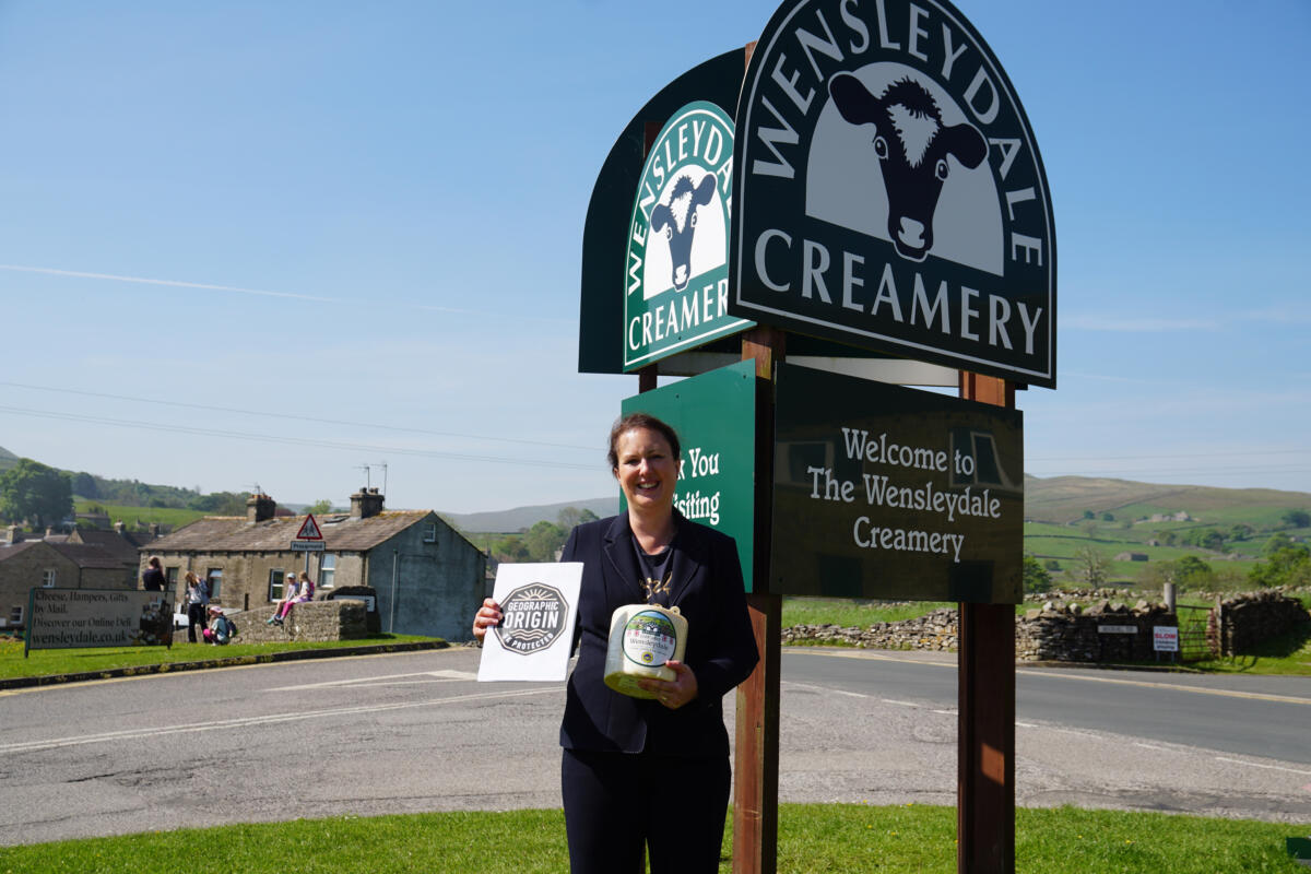 Defra Minister Visits The Home Of Yorkshire Wensleydale Cheese